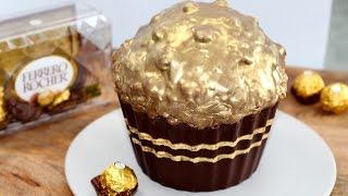 Download Giant Ferrero Cupcake! Huge Ferrero Rocher Cupcake Recipe | My Cupcake Addiction Video