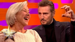 Download Liam Neeson Discusses His Sex Scene with Ex-Girlfriend Helen Mirren | The Graham Norton Show Video