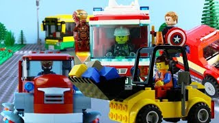 Download LEGO City Vehicles (COMPILATION 6) STOP MOTION LEGO Trucks, Bus, Cars | LEGO City | By Billy Bricks Video
