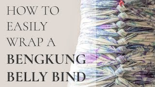 Download What is a Bengkung Belly Bind & How To Wrap It Video