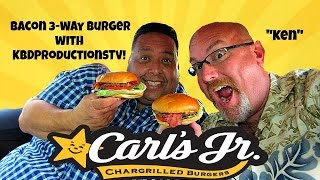 Download Carl's Jr.® 3-Way Bacon Burger Review with KBDProductionsTV! Video