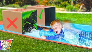 Download DONT Water Slide Through the WRONG MYSTERY BOX! 💥 (HILARIOUS!) Video