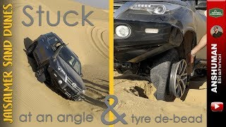 Download Toyota FORTUNER Recovery: Stuck at an angle & Tyre De-bead on a Sanddune Video