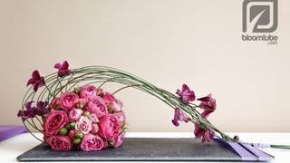 Download How to make a flower arrangement with roses tutorial Video
