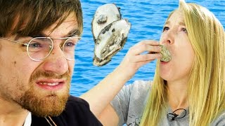 Download People Who Hate Seafood Try Oysters Video