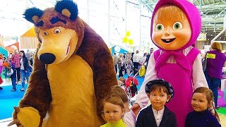 Download Hello song / Masha and the Bear & other cartoon characters. Indoor playground & funny Vlad playtime Video