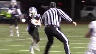 Download High School Referee Lays Massive Hit on Running Back Video