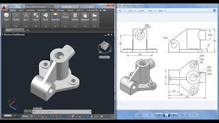 Download Autocad 3D practice drawing : SourceCAD Video