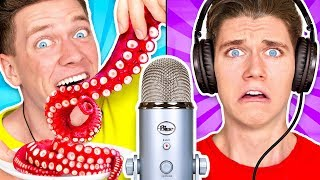 Download Guess That ASMR Sound w/ Octopus, Raw Honeycomb, DIY Slime & Aloe Vera Challenge Video
