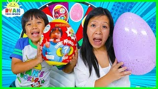 Download 3 Color Egg Surprise Toys Mystery Wheel Challenge!!!! Video