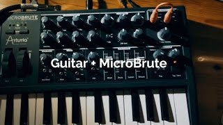 Download Plugging a guitar to the MicroBrute Video