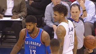 Download Paul George TAUNTS KELLY OUBRE JR USING STREETBALL MOVES THEN CROSSES HIM OVER AFTER HE GETS MAD!!! Video