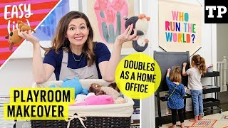 Download Playroom makeover: organize toys & decorate on a budget (+ home office ideas) | Easy(ish) S01E13 Video