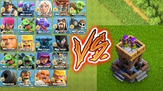 Download MAX ARCHER TOWER VS ALL TROOPS !!!defense vs troops😎whi can survive🌹🔥Unity clash🔥😱 Video