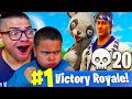 Download DUOS WITH MY 9 YEAR OLD LITTLE BROTHER! *NEW* PANDA & SUSHI MASTER SKIN! FORTNITE BATTLE ROYALE RAGE Video