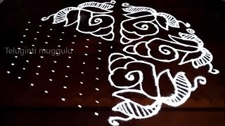 Download Shanqu kolam designs with15-8 middle | chukkala muggulu with dots| rangoli design Video
