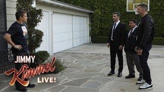 Download Tom Brady Helps Jimmy Kimmel Vandalize Matt Damon's House Video
