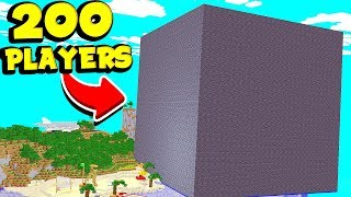 Download I TRAPPED 200 MINECRAFT PLAYERS INSIDE A CUBE OF BEDROCK FOR 1 WEEK | JeromeASF Video
