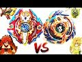 EPIC BATTLE: Sieg Xcalibur .1.Ir VS Drain Fafnir .8.Nt  - Xhaka vs Free - Beyblade Burst God!!神