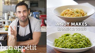 Download Andy Makes Ramen Two Ways | From the Test Kitchen | Bon Appétit Video