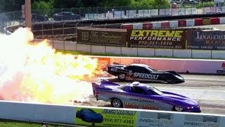 Download 6,000 hp HEAT WAVE Jet Car Fires Up with Raw Sound Crazy Speed Drag Race! Over 300 mph Video