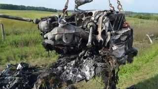 Download Lamborghini Horror-Crash mit 300 km/h: Ungarische Polizei veröffentlicht Abschreckungs-Video Video