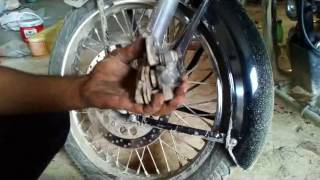 Download Disc Brake Pad Change Royal Enfield Motorcycle Video