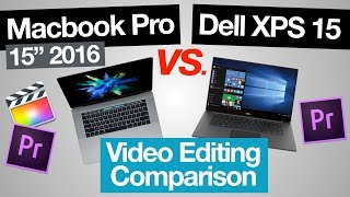 Download Macbook Pro 2016 vs Dell XPS 15 - Video Editing Comparison (Mac vs PC!) Video