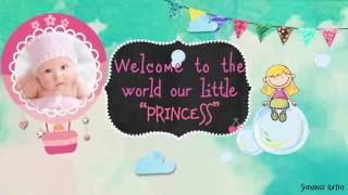 Download Welcome Baby - Girl Version After Effects Template Video