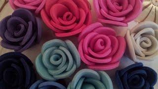 Download ✿ ❀Маленькие розы из фоамирана самый легкий способ✿ ❀ Video