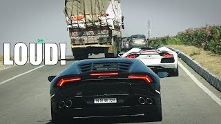 Download INDIA Highway - Chasing LOUD Lamborghini Aventador & Huracan Video