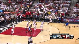 Download Draymond Green blocks back to back Blazers dunk attempts Video