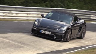 Download 2019 Porsche 718 Boxster Spyder - Exhaust SOUNDS on the Nurburging! Video