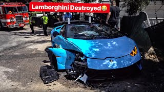Download LAMBORGHINI PERFORMANTE LOSES CONTROL & CRASHES HEAD ON INTO CAR! Video