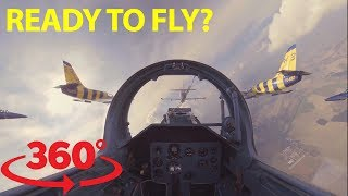 Download Jump in the cockpit and fly wing to wing with fighter jets in 360 Video