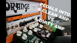 Download Should you run dirt pedals into clean amp vs. dirty amp? A comparison between the two Video