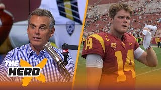 Download It isn't fair to compare USC's Sam Darnold and UCLA's Josh Rosen | THE HERD Video