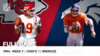 Download Chiefs vs. Broncos: Joe Montana vs. John Elway The Final Showdown | Week 7, 1994 (FULL GAME) | NFL Video