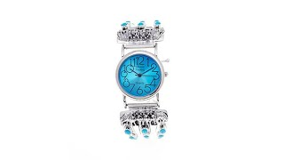 Download Chaco Canyon Sleeping Beauty Turquoise ″Wolf″ Watch Video