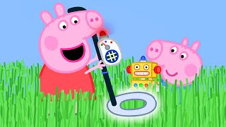 Download Peppa Pig Official Channel 🌟NEW SEASON 🌟Peppa Pig Uses a Metal Detector to Find George's Key Video