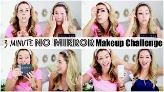 Download 3 Minute No Mirror Makeup Challenge | eleventhgorgeous Video