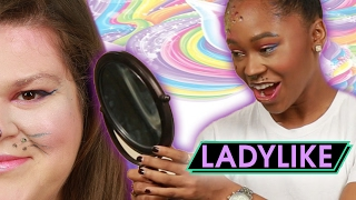 Download Women Try Lisa Frank-Inspired Makeup • Ladylike Video
