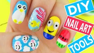 Download DIY Nail Art Tools with 5 Easy Nail Art Designs! How to Paint your Nails at Home! Video
