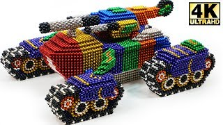 Download DIY - How To Make Super Tank from Magnetic Balls (Magnet ASMR) | Magnetic Man 4K Video