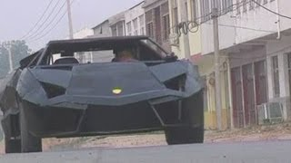 Download Chinese man creates own Lamborghini out of iron and an old van Video