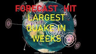 Download 7/13/2018 - Large M6.4 Earthquake - DIRECT Earthquake forecast hit - Largest EQ in weeks Video