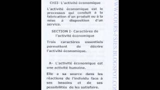 Download Introduction à l Economie S1 Cours Complet S1 Video
