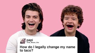 Download Stranger Things' Joe & Gaten Give Advice to Strangers on the Internet | Glamour Video