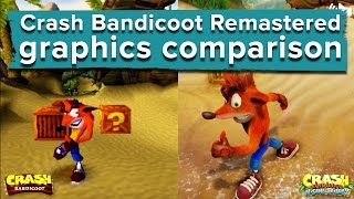 Download Crash Bandicoot Remastered graphics comparison - PS4 gameplay vs. PS1 Video