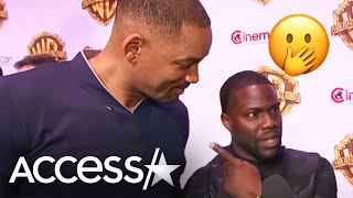 Download Watch Will Smith Crash Kevin Hart's CinemaCon Interview! | Access Hollywood Video